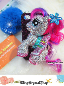 Czech/ Swarovski My Little PONY with Skirt 3D BLING Crystal  Cell Phone Case