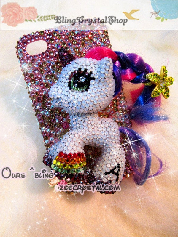 Swarovski My Little Pony / Unicorn  BLING Crystal 3D Cell Phone Case