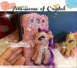 Czech/ Swarovski My Little Pony 3D / Unicorn  BLING Crystal 3D Cell Phone Case - Flip case
