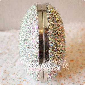 Stylish Bling and Sparkly Crystal Clutch with CC - Bridal / Bridesmaid / Wedding Clutch