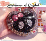 Stylish Bling and Sparkly Crystal Clutch with Jack Skellington- Bridal / Bridesmaid / Wedding Clutch