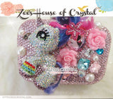 Bling and Sparkly Crystal Clutch with White MY LITTLE PONY