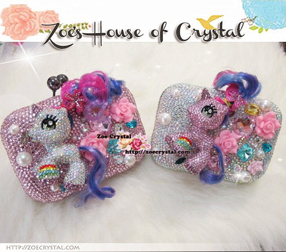 Bling and Sparkly Crystal Clutch with Pink MY LITTLE PONY