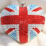 Stylish Bling and Sparkly Union Jack Crystal Clutch - Bridal / Bridesmaid / Wedding Clutch