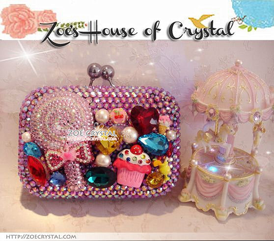 Bling and Sparkly CRYSTAL Clutch with Candies