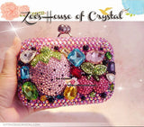 Bling and Sparkly CRYSTAL Clutch with Strawberies