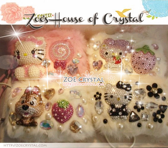 Bling and Sparkly Crystal Fur Clutch with adorable MY MELODY