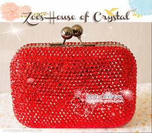 Bling and Sparkly CRYSTAL Clutch with Cool Skull