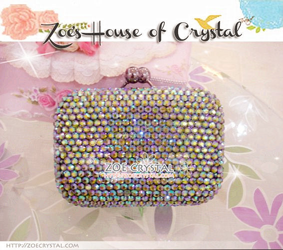 Bling and Sparkly CRYSTAL Clutch with Chipmonk Dale and Chip