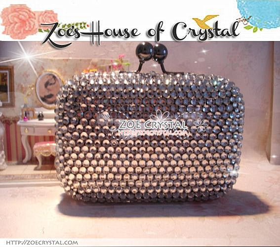 Bling and Sparkly CRYSTAL Clutch with Baikinman