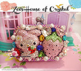 Bling and Sparkly CRYSTAL Clutch with My Melody