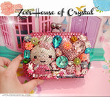 Bling and Sparkly CRYSTAL Clutch with Bunny