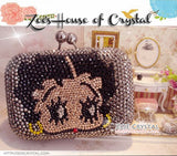 Bling and Sparkly CRYSTAL Clutch with Betty Boop