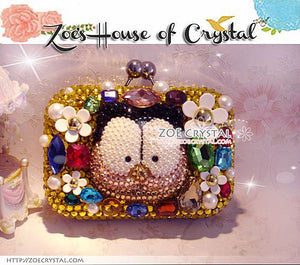 Bling and Sparkly CRYSTAL Clutch with Garfield