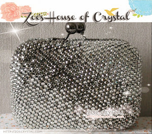 Wedding Purse / Clutch / Bag - An elegant and stylish one for Bride or Bridesmaid  (white to grey)