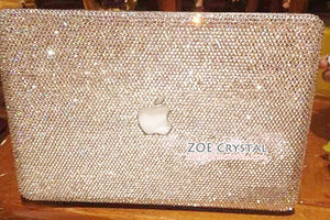 MACBOOK Air Pro Case Bedazzled Sparky Clear White Rhinestone Crystal  Pattern Kim Kardashian