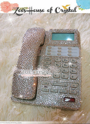 Bling and Sparkly White OFFICE / DESK  PHONE to ensure a good conversation for every call.