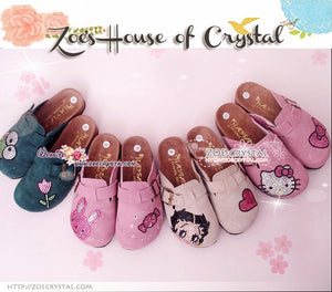 Promtion: 20% off Casual Style Bling and Sparkly Clogs / Sandals with Betty Boop