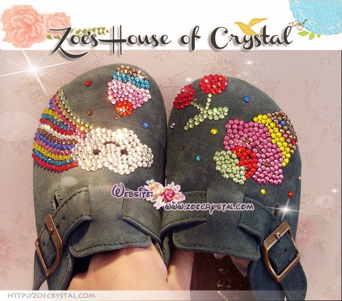 Promtion: 10% off Casual Style Bling and Sparkly Clogs / Sandals with Sweet Style