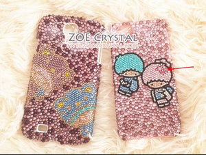 Czech/ Swarovski 2D Cell  Phone Case with twin little star