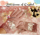 WINTER Sales- Pink Wool GLOVES with Elegant Crystals