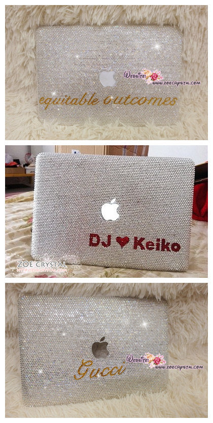 Bedazzled Bling MACBOOK Case / Cover Celeb Kim Kardashian Kylie Jenner in Clear White Crystal