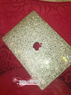 MACBOOK Air Pro Case Cover Clear White Crystal Rhinestone Strass Glitter Sparkly Shinny