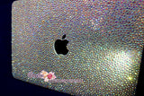 MACBOOK Case Cover in Aurora Borealis White Crystal Rhinestone Strass(Air/Pro)Glittering Sparkling Shinning-Random Bejeweled