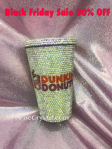 Stylish BLING Crystallized Dunkin Donuts Cold Cup