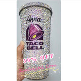 BLING Crystallized Taco bell Cold Cup