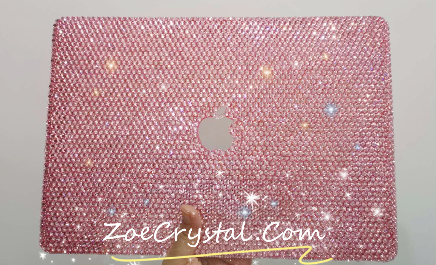 Macbook Rose gold Crystal Case