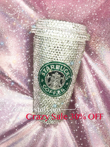 Stylish BLING Crystallized STARBUCKS Hot Cup