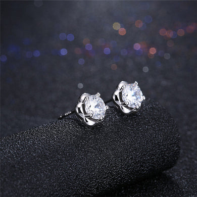 Different Shaped Stud Earrings 925 Sterling Silver (2 pcs)