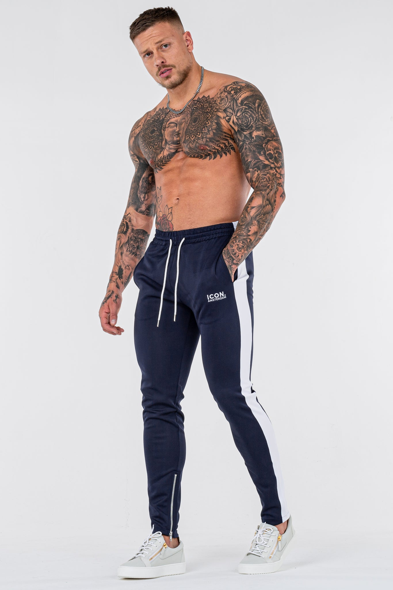 THE ICONIC TRACK PANTS - DARK BLUE