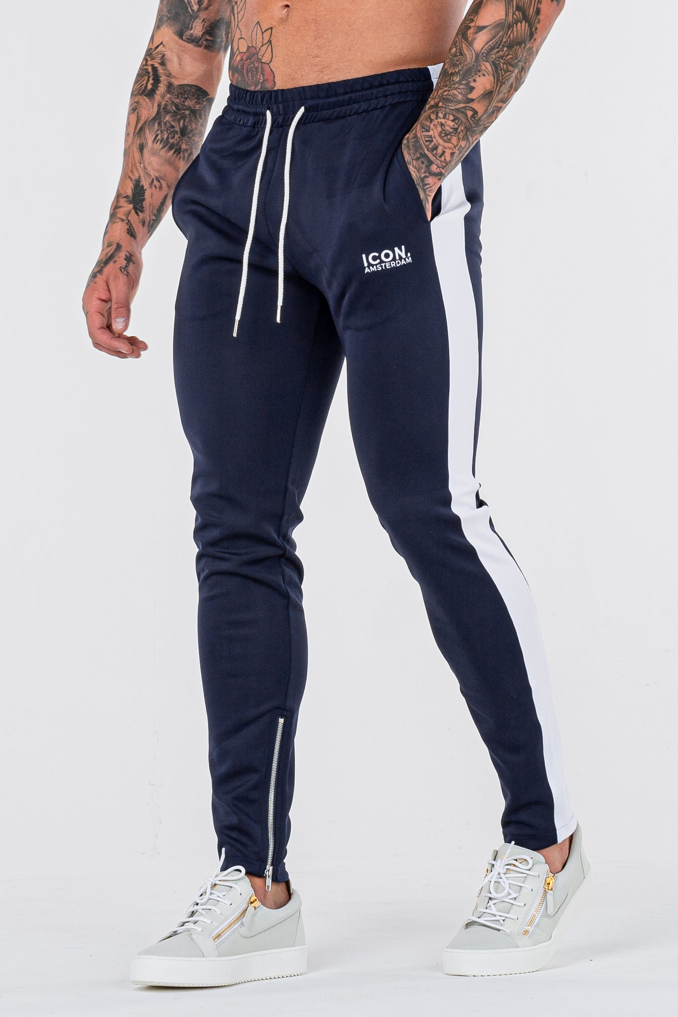 THE ICONIC TRACK PANTS - DARK BLUE - ICON. AMSTERDAM