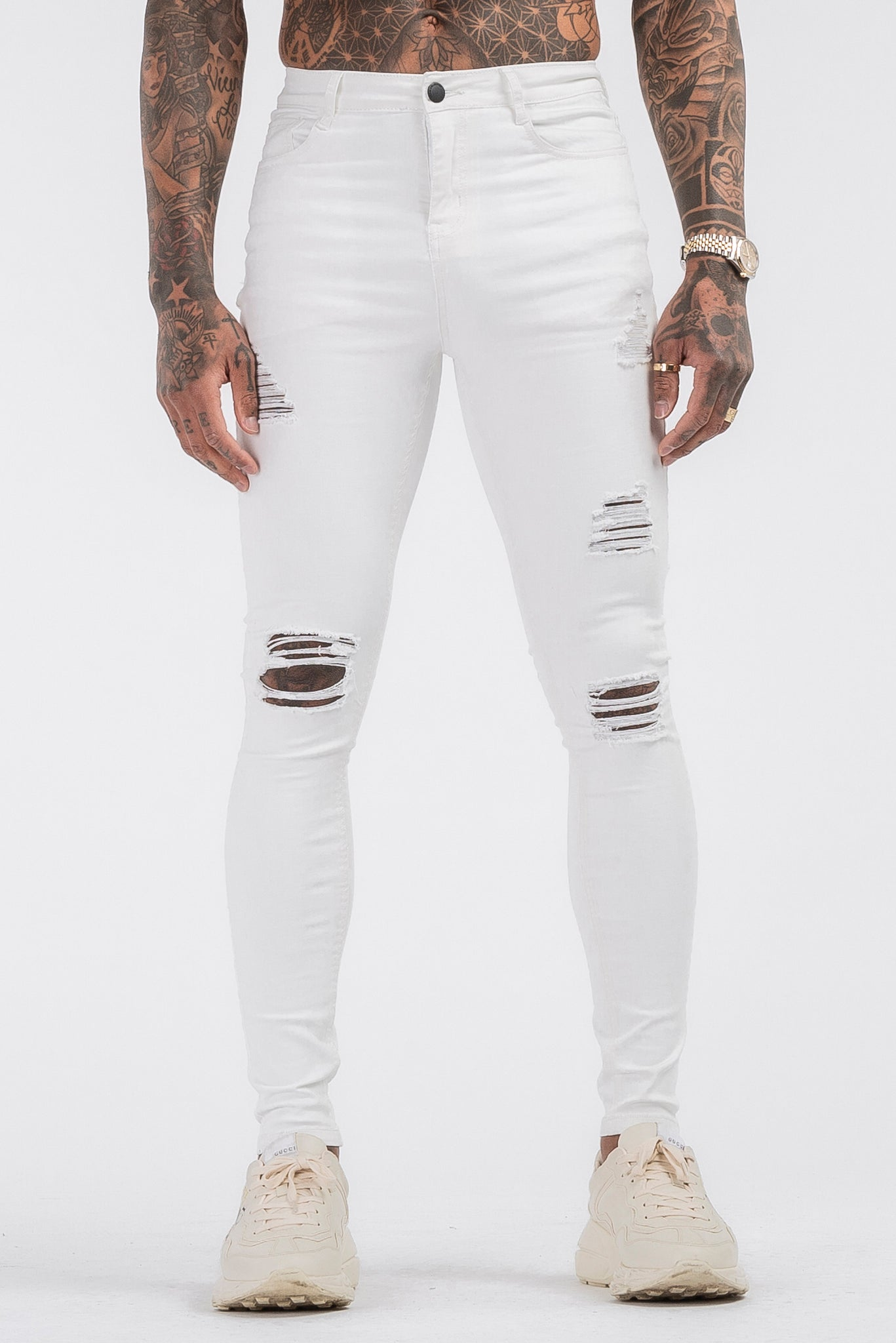 THE SAVAGE JEANS - WHITE - ICON. AMSTERDAM