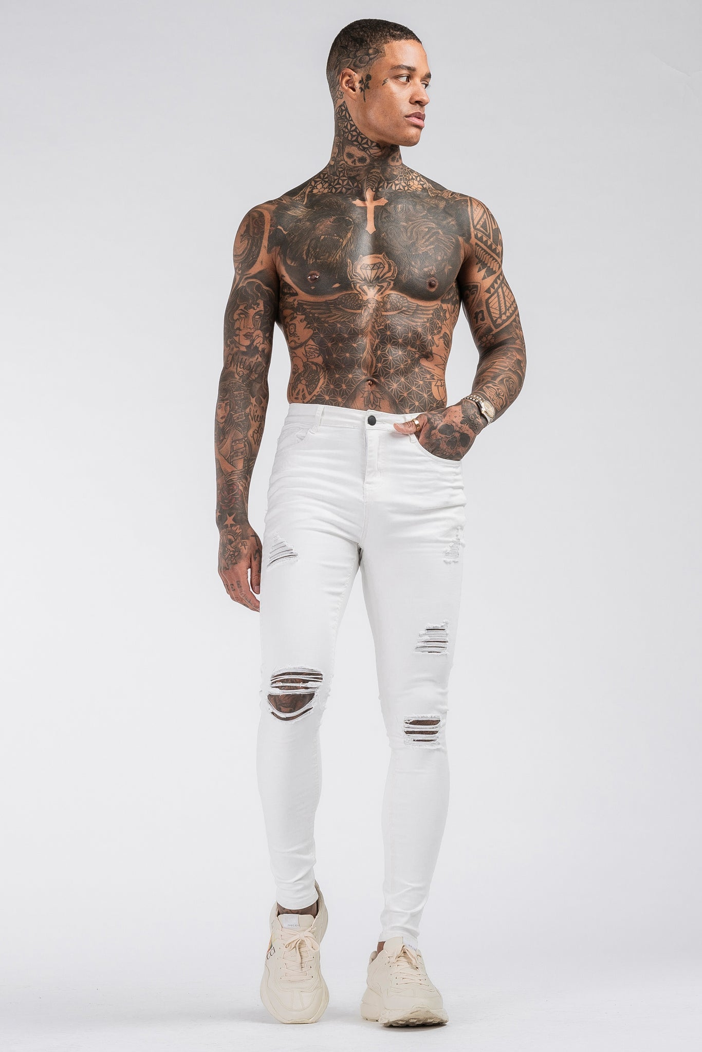 THE SAVAGE JEANS - WHITE