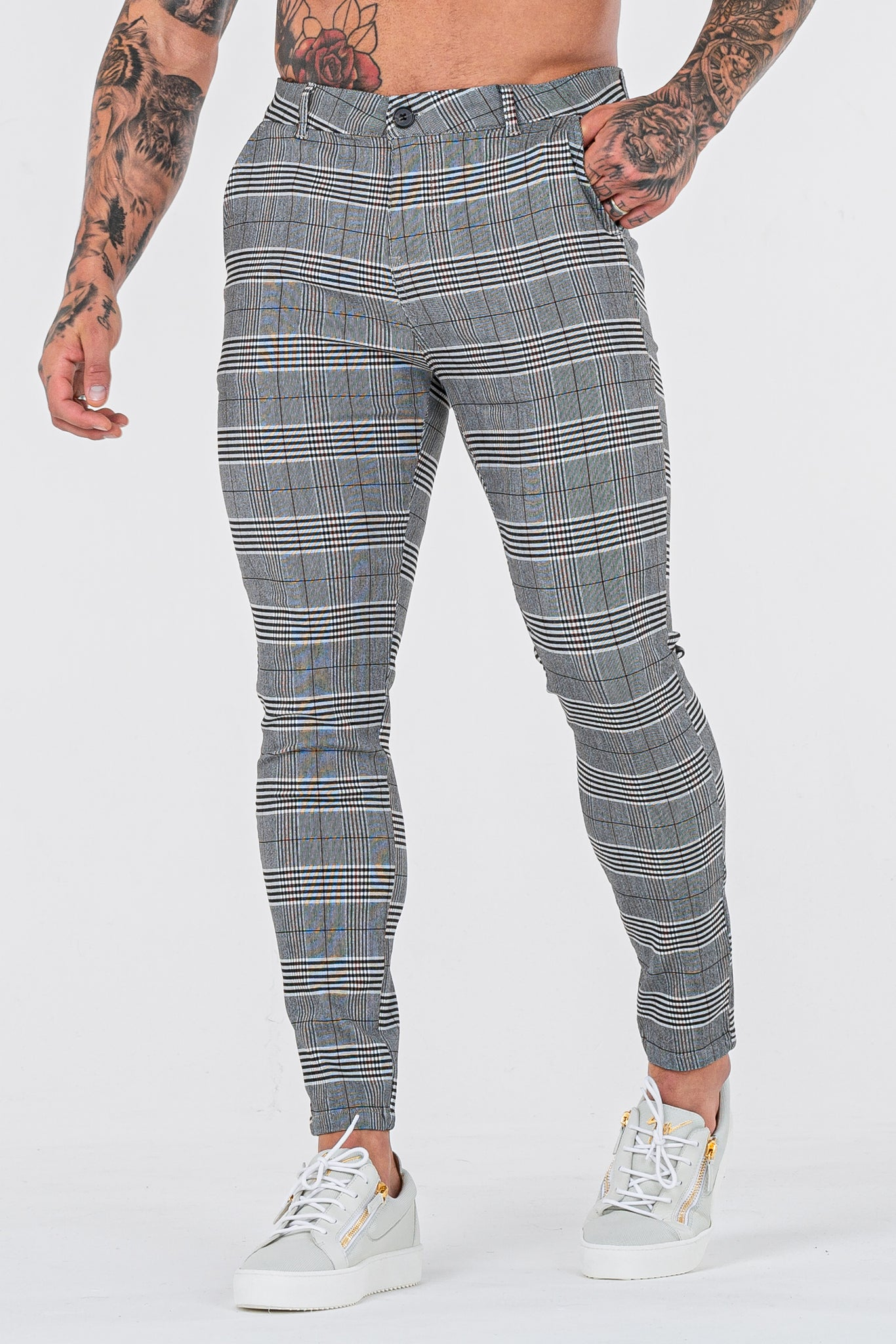 THE SIGNATURE TROUSERS - GREY/BLACK - ICON. AMSTERDAM