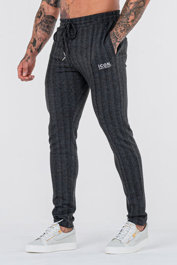 THE JACQUARD TROUSERS - BLACK - ICON. AMSTERDAM