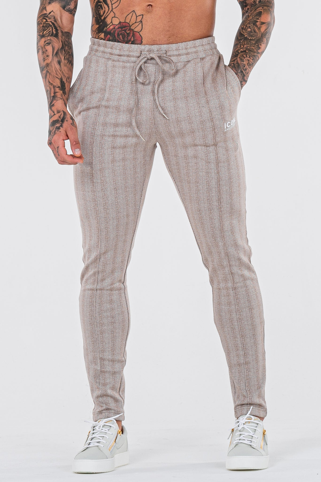 THE JACQUARD TROUSERS - CREAM