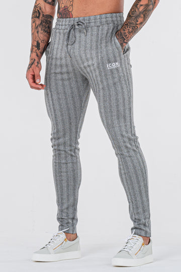 THE JACQUARD TROUSERS - GREY - ICON. AMSTERDAM