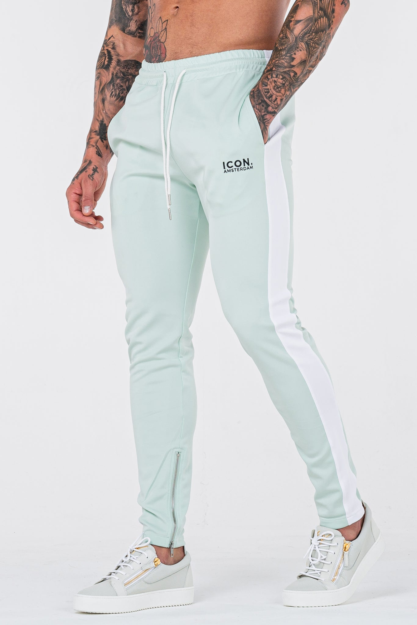 THE ICONIC TRACK PANTS - MINT GREEN - ICON. AMSTERDAM