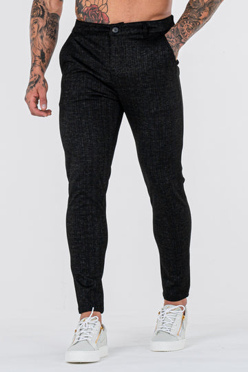THE NAXO TROUSERS - BLACK - ICON. AMSTERDAM