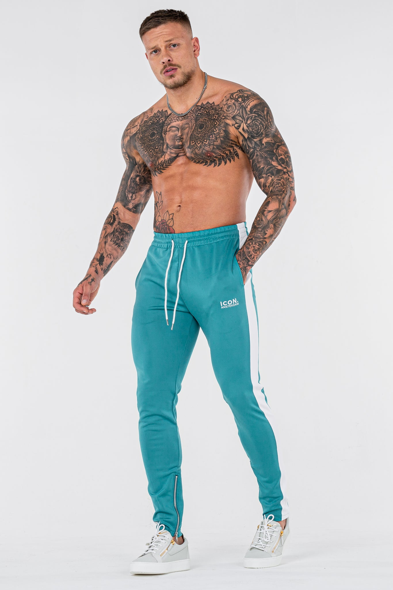 THE ICONIC TRACK PANTS - TURQUOISE