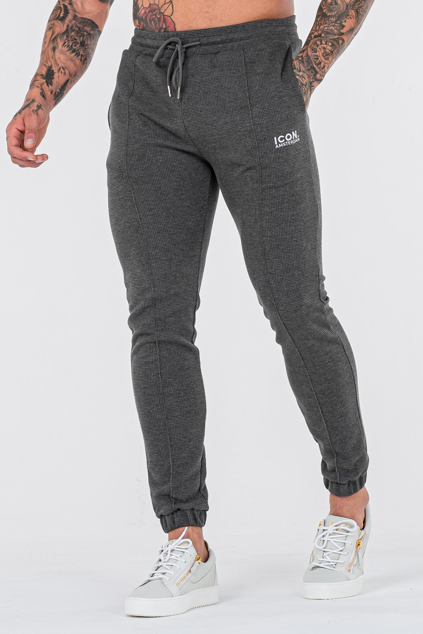 THE CAZA TROUSERS - CHARCOAL - ICON. AMSTERDAM