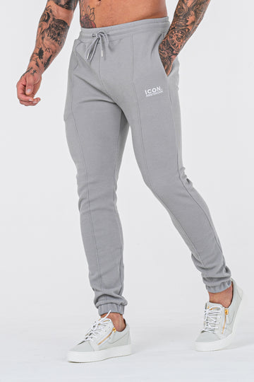 THE CAZA TROUSERS - MARL GREY - ICON. AMSTERDAM