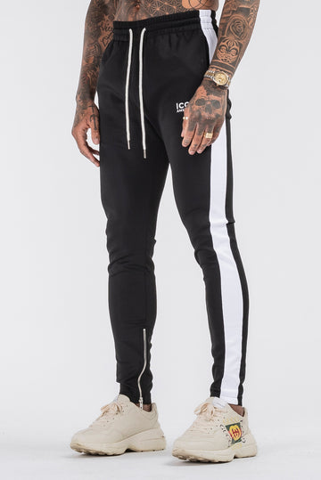 THE ICONIC TRACK PANTS - BLACK - ICON. AMSTERDAM