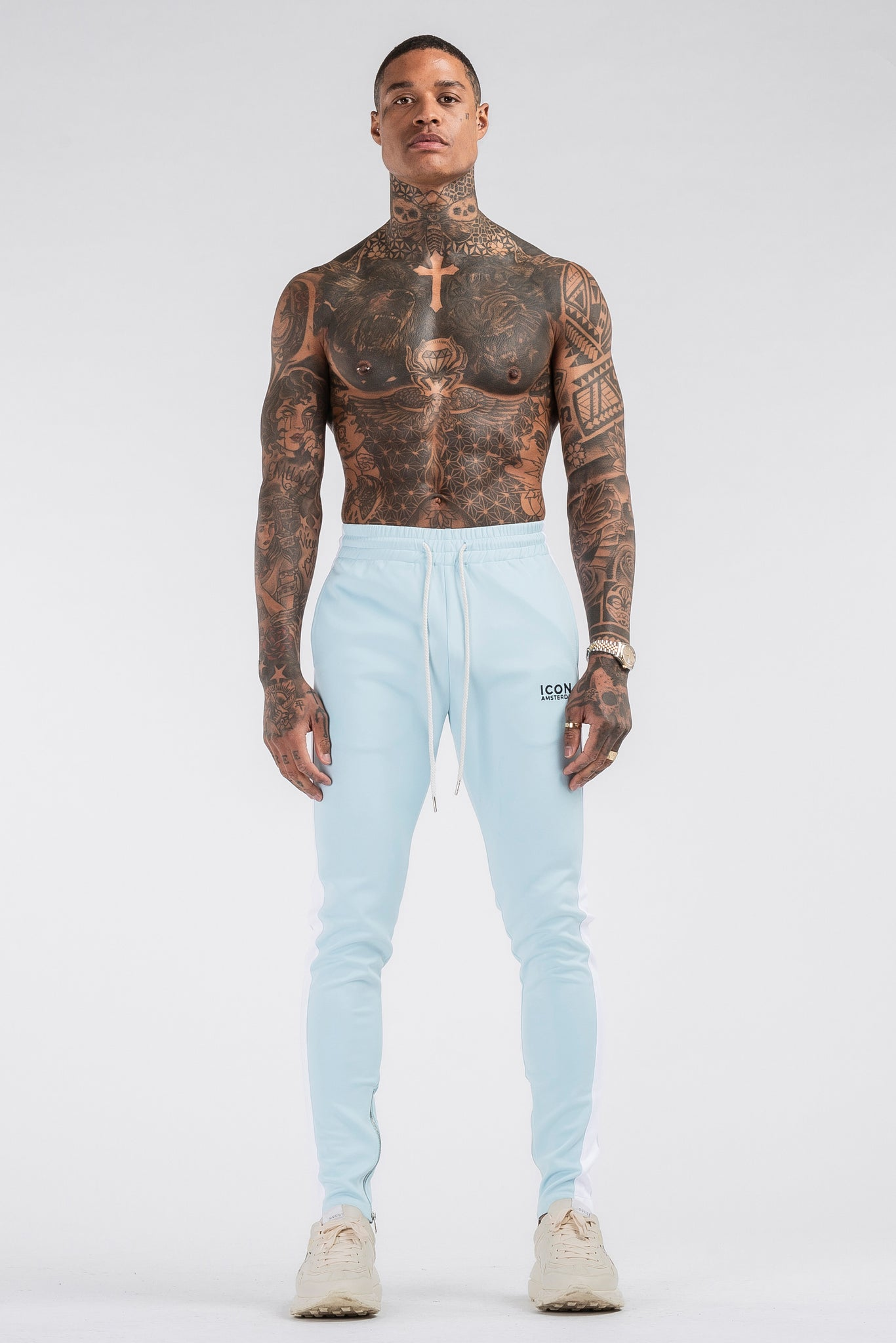 THE ICONIC TRACK PANTS - LIGHT BLUE