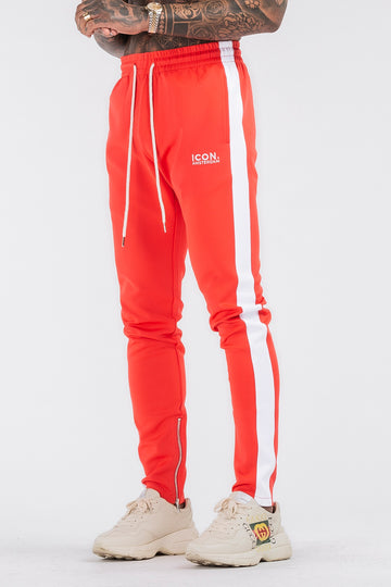 THE ICONIC TRACK PANTS - RED - ICON. AMSTERDAM