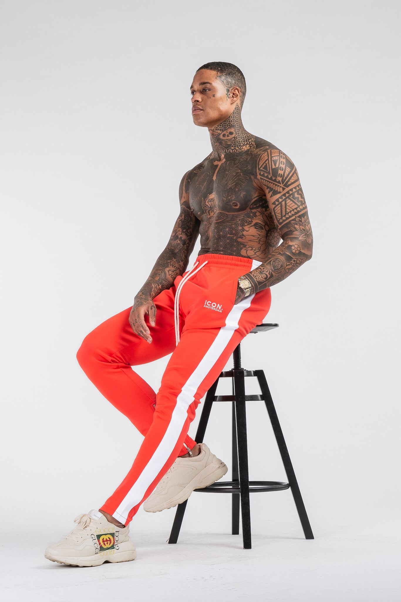 THE ICONIC TRACK PANTS - RED